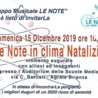 Le Note in &quote;clima&quote; Natalizio 15/12