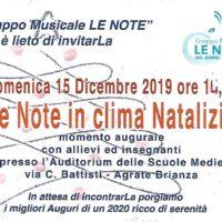Le Note in &quote;clima&quote; Natalizio 15/12